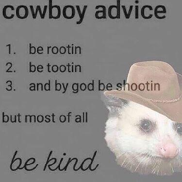 cowboy advice