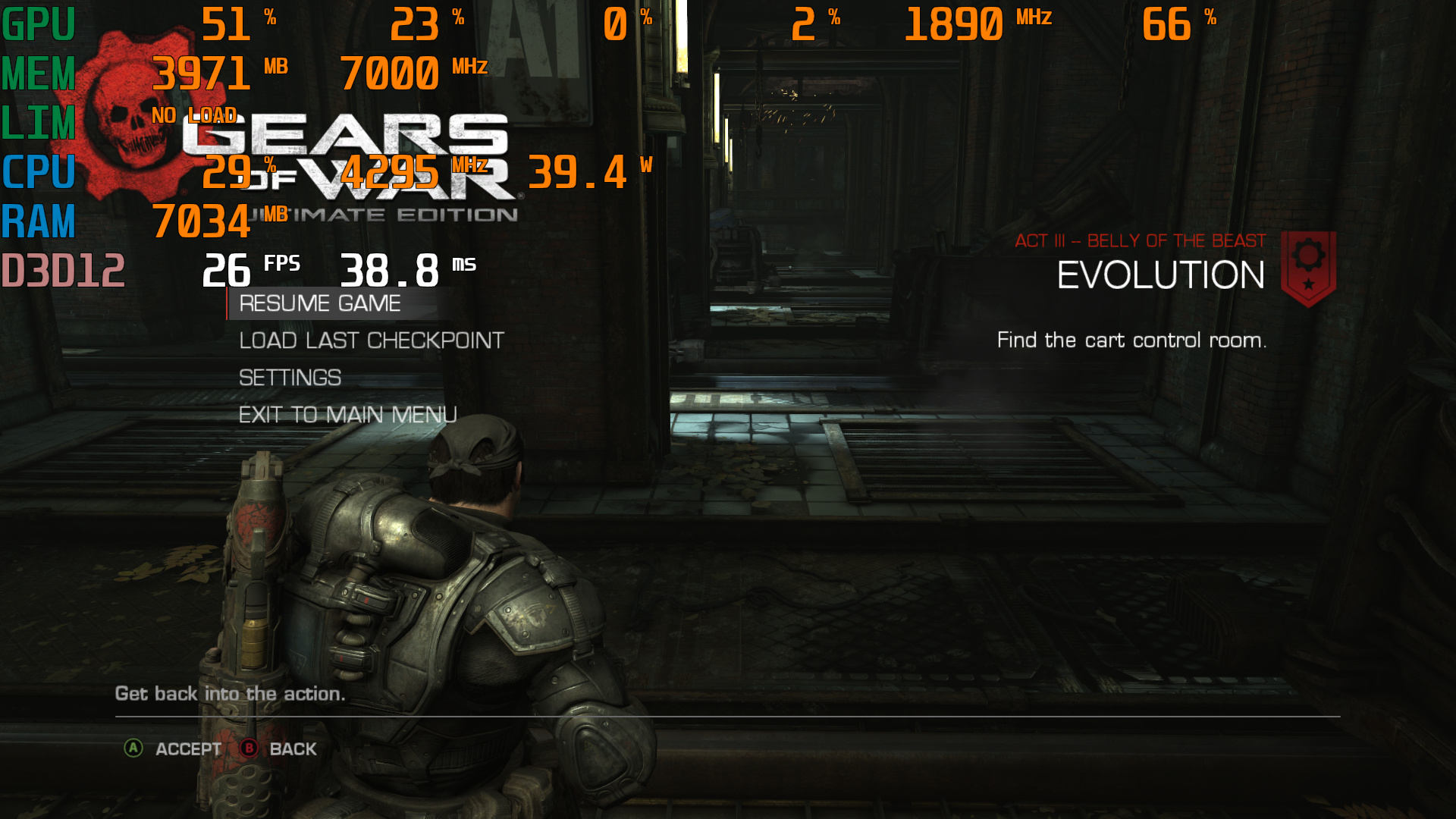 Gears of War Ultimate Edition Windows 10 drop fps after v 1809