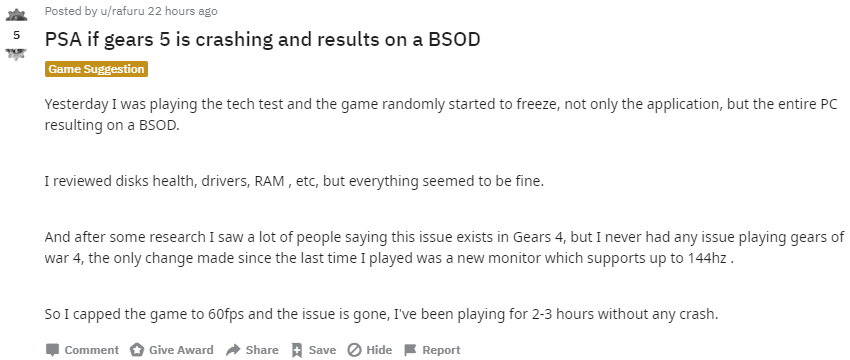 Gears 5 Tech Test - Hard-Freezing GOW4 Style On Anyone Else