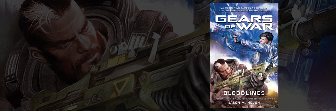 Book cover for Gears of War: Bloodlines featuring Kait and Gabe Diaz