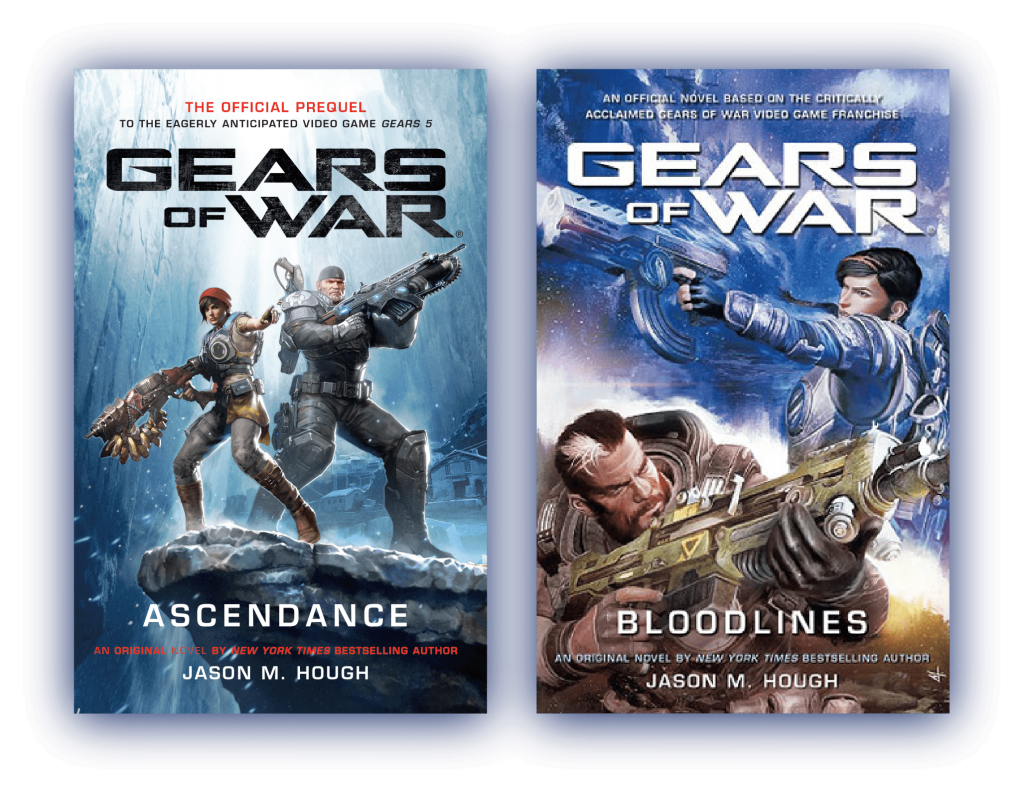 Gears of War Ascendence and Bloodlines Book Covers